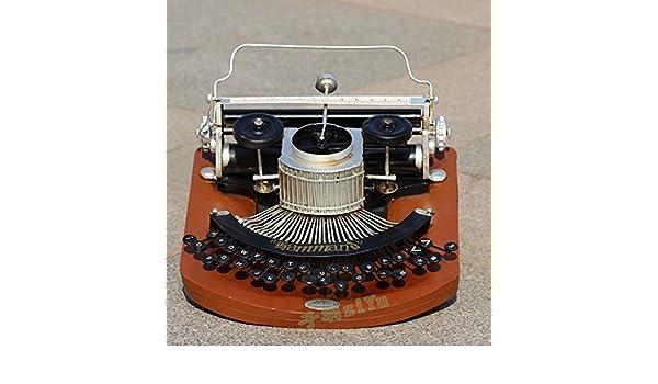 GG Antigua Máquina de escribir jahrgang Casa decorativa adornos, Coffee Shop, Bar Salón Studio Requisiten: Amazon.es: Hogar