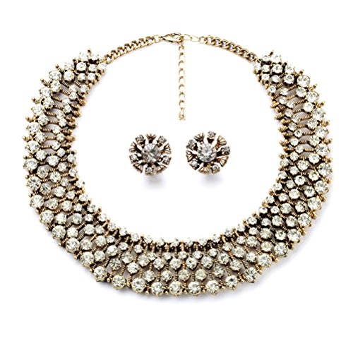 - Charm.L Grace Classic Refinement Crystal Wild Collar Fashion Necklace