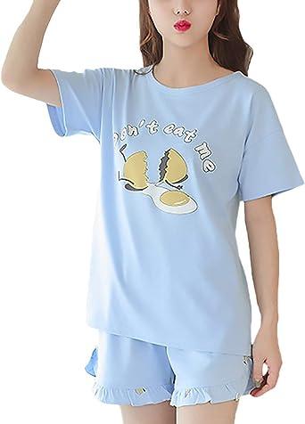 Mujer Conjunto De Pijama Dos Piezas Camiseta + Pijamas Mujer ...