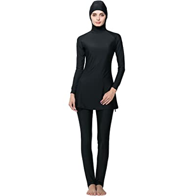 Ababalaya Womens' UPF 50+ Full Cover Islamic Swimsuits Muslim Swimwear