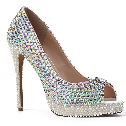 L@YC Women's Shoes Heel Heels/Peep Toe/Platform Sandals/Heels Outdoor/Dress/Casual/White White