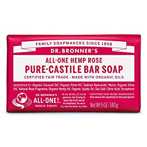 Dr. Bronner's Rose Bar Soap Made with Organi...