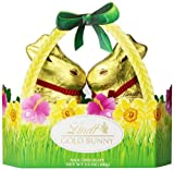 chocolate bunnies - Lindt Gold Bunny Basket, Milk Chocolate, 3.5 Ounce