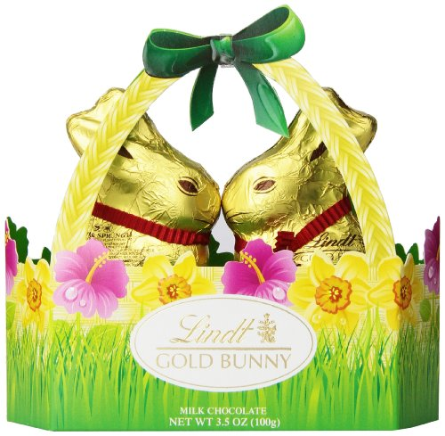 Lindt Gold Bunny Basket, Milk Chocolate, 3.5 Ounce (Baskets Southern Gift)