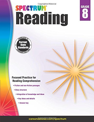 Spectrum Reading Workbook, Grade 8 cover