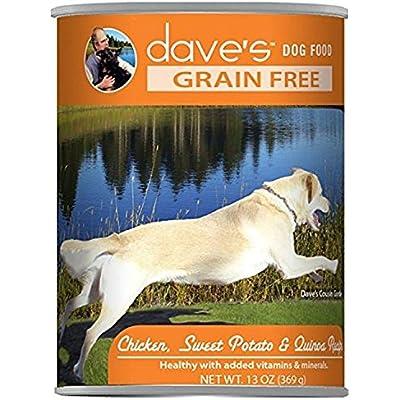 Dave'S Grain Free, Chicken, Sweet Potato & Quinoa  For Dogs, 13 Oz Can (Case Of 12 )