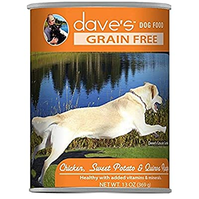 Dave'S Grain Free, Chicken, Sweet Potato & Quinoa  For Dogs, 13 Oz Can (Case Of 12 )