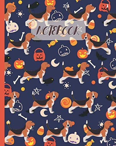 Halloween Party Food Ideas For Babies (Notebook: Cute Beagle with Halloween Theme - Lined Notebook, Diary, Track, Log & Journal - Gift Idea for Boys Girls Teens Men Women (8