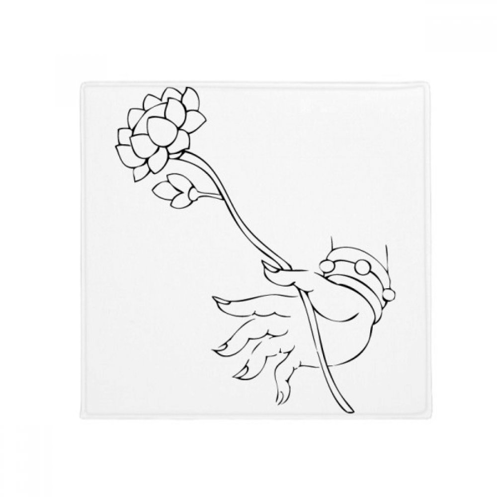 DIYthinker Buddhism Lotus Hand Simple Illustration Pattern Anti-Slip Floor Pet Mat Square Home Kitchen Door 80Cm Gift