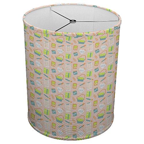 School Hardback - Hardback Linen Drum Cylinder Lamp Shade 8