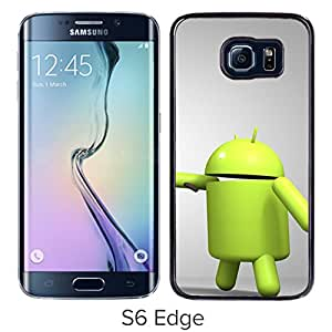 3D Android Logo Green Render Hard Plastic Samsung Galaxy S6 Edge G9250 Protective Phone Case