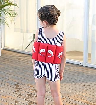 Bañador de una pieza con flotador integrado, para niños y niñas, Infantil, dolphin Printed, 4 años: Amazon.es: Deportes y aire libre