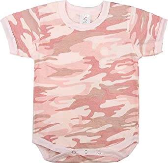 abc619197139 Rothco Baby Pink Camouflage Military One Piece Baby Suit Size 9-12 Months:  Amazon.co.uk: Clothing