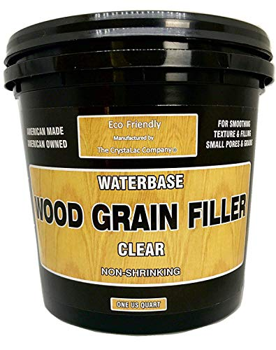 CrystaLac Wood Grain Filler Quart, Clear