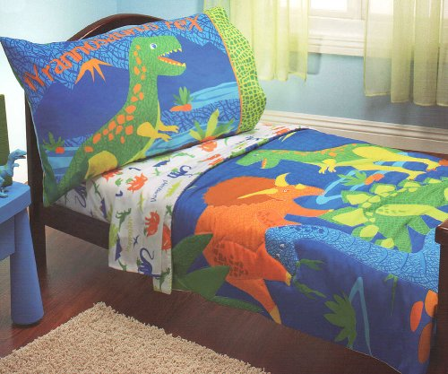 T-Rex Dinosaurs 4pc Dino Toddler Bedding Set