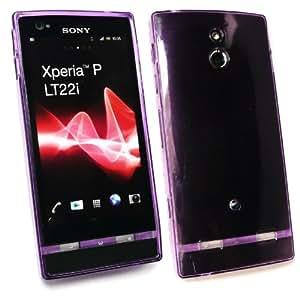 Emartbuy ® Sony Xperia P Gel Normal Patrón De Piel Púrpura Cubierta