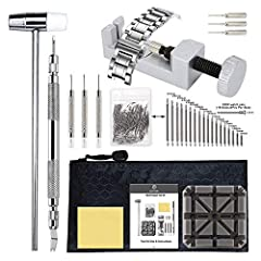 BYNIIUR Watch Repair Tool Kit - Watch Band Spring Bar Tool Set with Watch Pins for Watch Repair and Watch Band Replacement,Save your time and money,Make your life easier!  Product Feature:  All-Metal Watch Band Link Remover: -Fits bands up to...