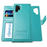 AMOVO Leather Case for Galaxy Note 10 Plus (6.8'') [Genuine Leather] Samsung Galaxy Note 10+ Wallet Case Detachable [2 in 1 Folio] [Wristlet] Note10+ Leather Folio (Note10Plus, Genuine Leather Black)