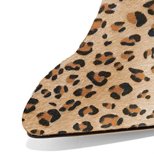 Fsj Donne Scivolano Sui Muli Punta Chiusa Faux Sandali In Camoscio Stiletto Tacco Alto Scarpe Classiche Formato Stati Uniti 4-15 Leopardo