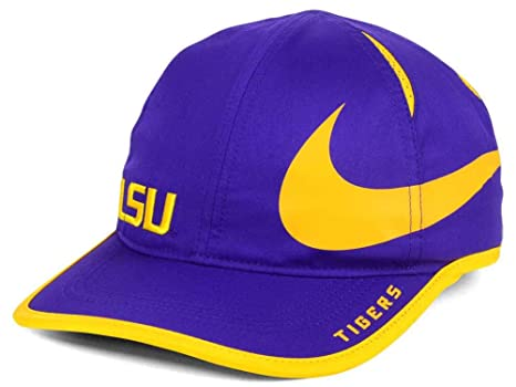 Amazon.com   NIKE Aerobill Dri Fit Adjustable Lightweight LSU Tigers ... 5616b4f046f