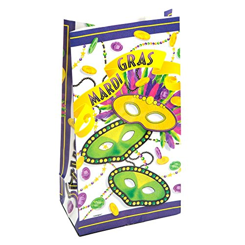 Mardi Gras Treats (Mardi Gras Masks Paper Party Favor Bags, 10ct)