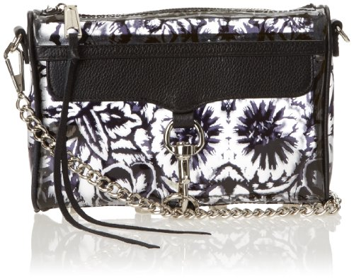 Flower Minkoff Handbag Body Cross Print Mini Black MAC Mexi Convertible Rebecca AZFx81n1