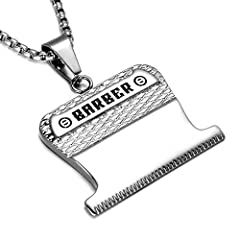 Buy Pendant Get Free Chain!Material:316L Stainless SteelColour:SilverWeight:44gChain Length:600mmPendant:43mm*37mm