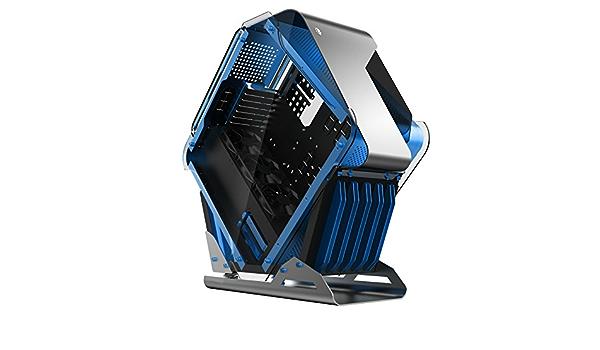 hobbyt rombos todos los refrigeración por agua juego de aleación de aluminio caja de ordenador semitorre ATX de ordenador Soporta BTX, ITX, Micro-ATX, ATX (azul carcasa): Amazon.es: Electrónica