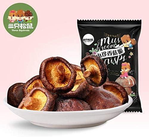 三只松鼠 中国名物 おつまみ 大人気 Daben® 香菇脆 零食小吃 蔬菜香菇 蘑菇 干山珍 50g/袋