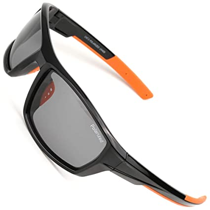 55ab7873ccb MOTELAN Polarized Casual Sports Sunglasses for Driving Fishing Hunting Golf  Unbreakable Frame Black