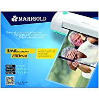 Marigold 205-Count Pack 3 mil Letter Size, 9x11.5, Thermal Laminating Pouches Laminator Film Sheets for Laminator Machine (TLP3LTR)