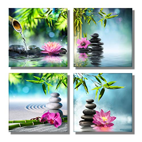 789Art - Bamboo Zen Canvas Wall Art Spa Artwork for Walls Contemporary Home Decorations for Living Room Office Bedroom Bathroom Modern Decor(12