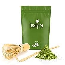 Tealyra - Premium - 50-gram - Izu Japanese Matcha Green Tea - Matcha Bamboo Whisk 100 Prong and Scoop - Ceremony Matcha Start Up Set - Japanese Matcha Accessories - 3 Piece Kit