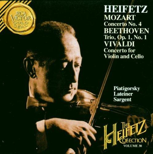 Mozart: Violin Concerto No. 4 / Beethoven Trio Op. 1, No. 1 / Vivaldi Concerto (The Heifetz Collection, Vol. 30) by Jascha Heifetz