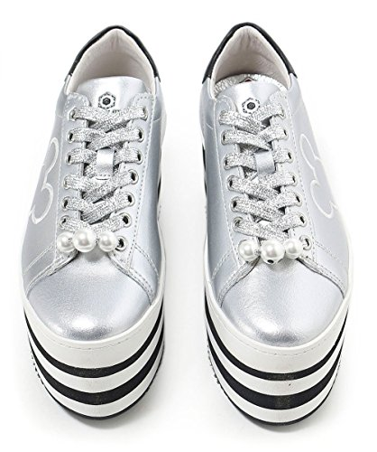 MOA Master of Arts Women's Disney Platform Mickey Trainers Silver Silver sAT7TM