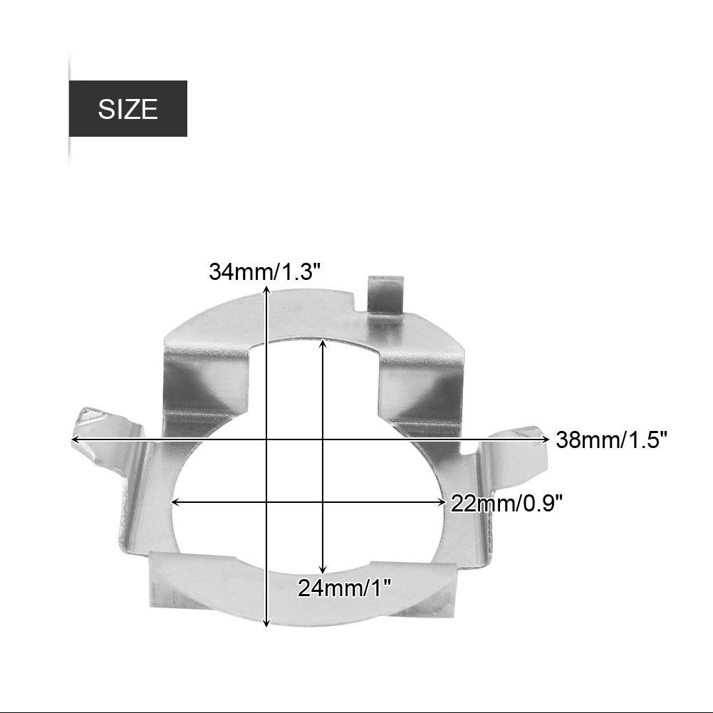 Supporto base per presa di corrente 1 paio di adattatori per fari a LED H7