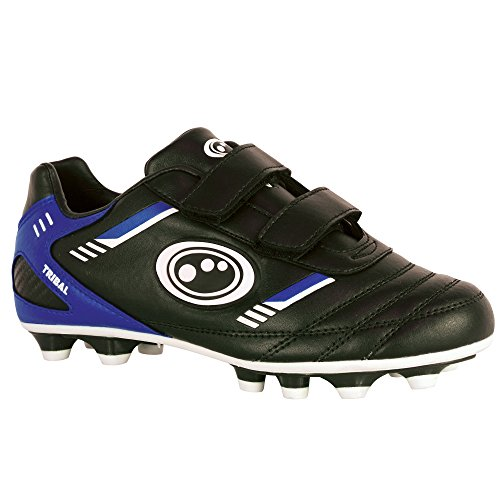 Optimum Jungen Tribal-Velcro Moulded Stud Fußballschuhe Schwarz (Schwarz/Blau)