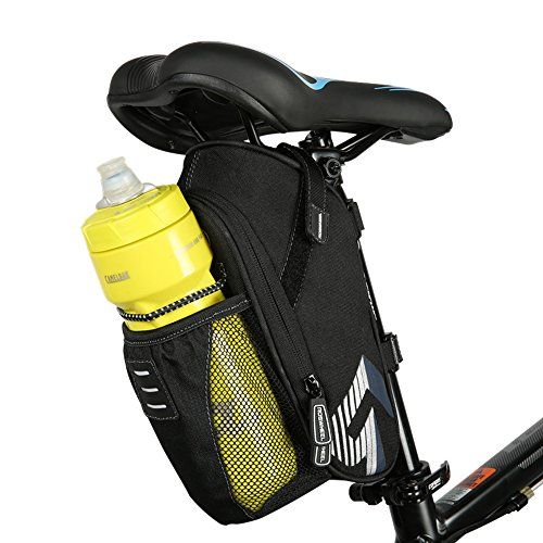 allnice Bike Saddle Bag, 1.6L Mountain Road MTB Bicycle Cycling Polyester Saddle Bag Pocket Water Bottle, Bike Under Seat Rear Bag Repair Tools Pocket Pack Riding Cycling Supplies (Polyester) by allnice