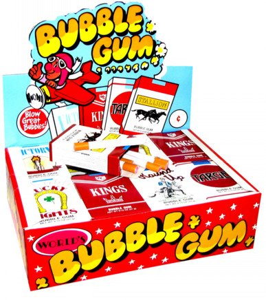 Bubble Gum Cigarettes, 24 count display box