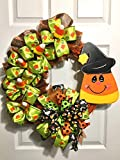 Halloween Wreath, Grapevine Wreath, Halloween Grapevine Wreath, Candy Corn Wreath, Cute Halloween Wreath