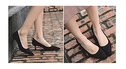 Mujer Bombas Primavera 34 Con Tacones Moda 38 Punta Medio De Black Discotecas Verano Zapatos Altos Tacón 5cm Nvxie wqzx166