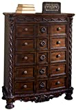 Signature Design by Ashley B553-46 North Shore Dressing Chest, Brown