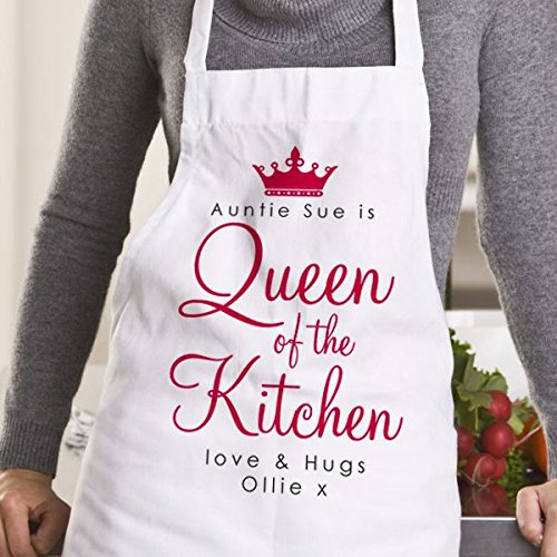 ladies personalised queen of the kitchen apron with a name of your rh swedishculture se