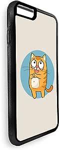 ايفون 7 بلس  بتصميم رسومات تعبيرية - قط