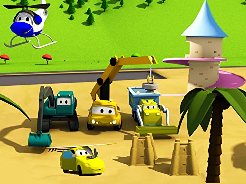 construction-squad-builds-a-princess-tower-and-a-beach-at-car-city