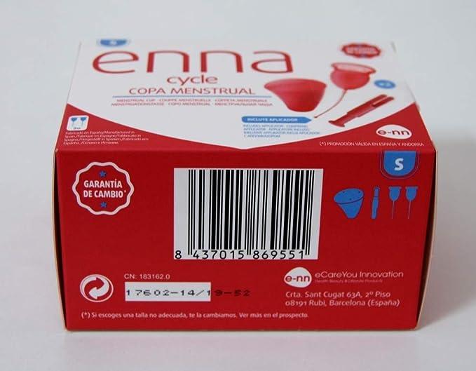 Enna Cycle Copa menstrual con aplicador, Talla S