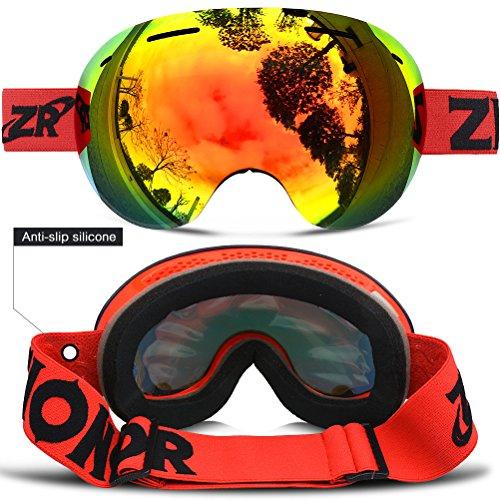 2867768a48 ZIONOR Lagopus X5 Frameless Ski Snowmobile Snowboard Skate Goggles with  100% UV400 Protection Anti-