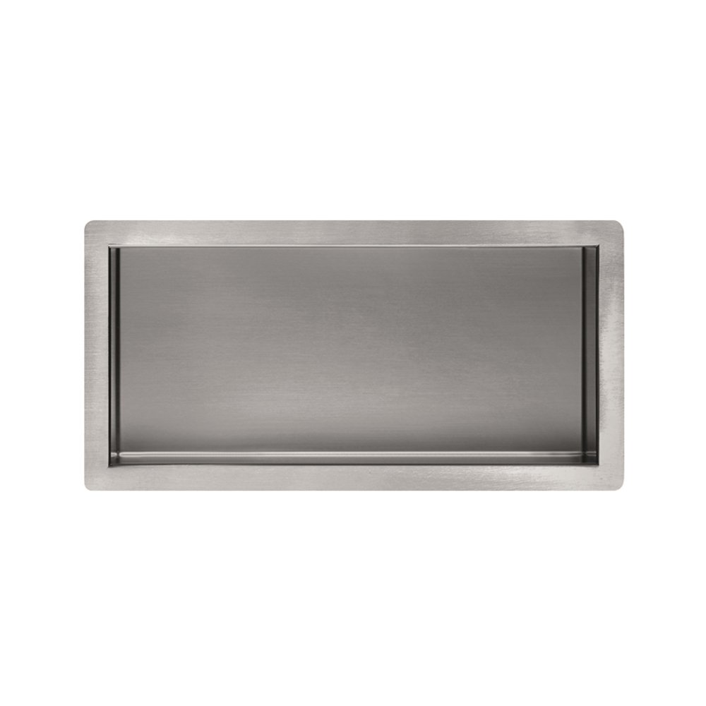 qinisi Bathroom 304 Stainless Steel Single Recessed Shower Niche 12 ...