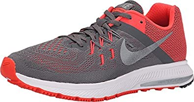 on sale 7e40b 53247 Image Unavailable. Image not available for. Colour  NIKE 807279-005  Air Zoom  Winflo 2 Grey Red Fashion Casual Running Women