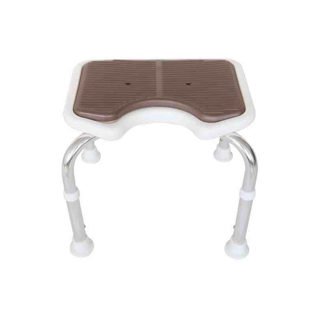 大注目 ブラウン防水安全快適な安定した耐久性のあるバスチェア高齢者/身体障害者/妊娠可能な調節可能な高さステンレススチールバススツールアンチスリップチェア最大。 B07FLQTMP4 100kg B07FLQTMP4, 豊田市:f16ef575 --- ciadaterra.com